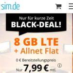 8 GB Allnet Flat für 7,99€ - sim.de | ohne Laufzeit