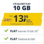 Freenet Mobile Vodafone LTE Allnet Flat Tarife   TOP-Deal: 10 GB für 13,99€ / 15 GB für 16,99€   monatlich kündbar