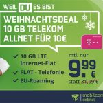 10 GB Mobilcom Telekom Allnet Flat für 9,99€ pro Monat