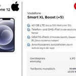 40 GB LTE Vodafone Smart XL ab 44,99€ mit iPhone 12 (Mini, Pro), Google Pixel 5, Galaxy S20 ab 4,95€