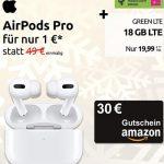 18GB Telekom LTE Allnet Flat ab 19,99€ mit Handy ab 4,95€ | Apple AirPods Pro oder Nintendo Switch Lite + 30€ Amazon Gutschein für 1€