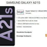 Saturn Super Select S 6 GB LTE ab 9,99€ mit Galaxy A21s für 9€, LG Velvet für 29€