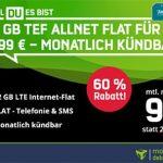 12 GB Mobilcom o2 Allnet Flat für 9,99€ pro Monat
