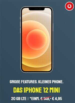 25GB LTE Vodafone Smart XL (GigaKombi) ab 39,99€ mit iPhone 12 (mini), Google Pixel 5, Galaxy S20 ab 4,95€