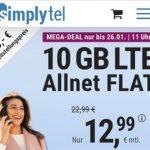 Simplytel 10 GB Flat für 12,99€