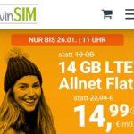 winSIM 14 GB Allnet Flat für 14,99€   5 GB Allnet Flat für 6,99€