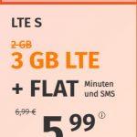 3 GB PremiumSIM LTE Allnet Flat für 5,99€   10 GB Allnet Flat für 12,99€