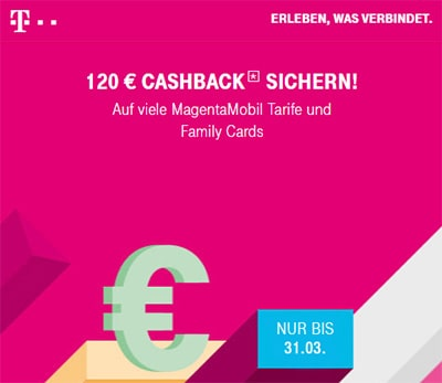 120€ Telekom Cashback Aktion