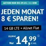 14 GB LTE Allnet Flat für 14,99€   5 GB LTE Allnet Flat für 6,99€ - Handyvertrag.de   ohne Laufzeit