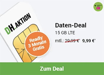 Mobilcom-Debitel Telekom Green Data XL 15GB LTE für 9,99€ pro Monat
