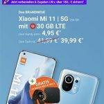 30 GB LTE Vodafone Smart XL (GigaKombi) ab 39,99€ mit iPhone 12 (mini), Xiaomi Mi 11, Galaxy S21 ab 4,95€