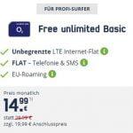 MD o2 Free Unlimited (unbegrenztes Datenvolumen) ab 14,99€ | mit und ohne Laufzeit