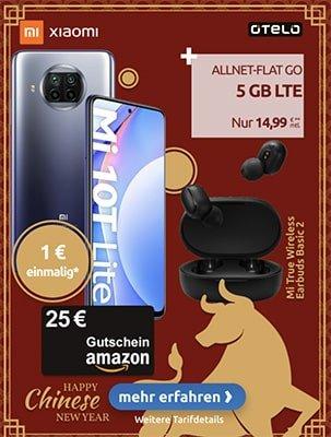 otelo Allnet Flat GO 5GB LTE für 14,99€ pro Monat mit Apple AirPods Pro für 1€ | Xiaomi Mi 10T Lite + 25€ Amazon Gutschein für 1€ | Oppo Reno 4 5G für 29€