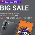 Vodafone Smart L 7 GB für 29,99€ mit Galaxy S21 für 4,95€