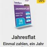 Handy.de Jahresflat für 79,99€ mit Allnet Flat + 33 GB + 3 GB monatlich | ohne Kündigung