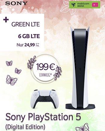 Sony Playstation 5 für 199€ mit 6 GB Telekom Vertrag für 24,99€ / Monat