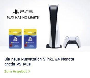 Sony Playstation 5 für 99,99€ mit 10 GB Telekom / Vodafone Vertrag für 41,99€ / Monat