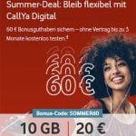 Vodafone CallYa Digital 10 GB Prepaid Tarif für 20€ pro Monat mit 60€ Startguthaben