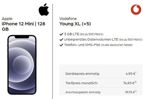 Vodafone Young XL Unlimited Flat (5G Netz Tarif) mit Handy ab 4,95€