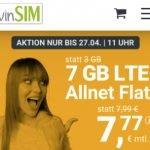 winSIM 7 GB Allnet Flat für 7,77€