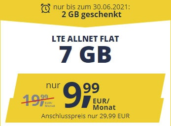 Freenet Mobile Vodafone LTE Allnet Flat Tarife | TOP-Deal: 7 GB für 9,99€ / 15 GB für 16,99€ | monatlich kündbar