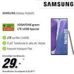 10 GB MD Green Vodafone LTE Tarif ab 24,99€ mit Handy | iPhone SE für 49€, Galaxy Note 20 für 29€