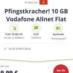 10 GB Mobilcom Debitel Vodafone LTE Allnet Flat für 9,99€