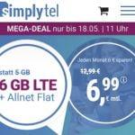 Simplytel 6 GB Flat für 6,99€