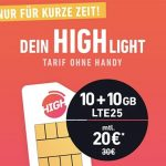 HIGH Mobile 5 GB Telekom LTE Allnet Flat ab 10€ pro Monat   20 GB Flat ab 20€   ohne Anschlussgebühr