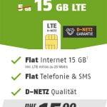 Klarmobil Allnet Flat Tarife im Telekom LTE Netz | TOP-Deal: 15 GB Flat für 15€