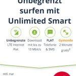 Mobilcom o2 Free Unlimited Smart (unbegrenztes Datenvolumen) für 14,99€