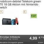 18 GB Telekom LTE Allnet Flat ab 20,99€ mit Handy ab 4,95€ | TOP-Deal: Nintendo Switch für 4,99€
