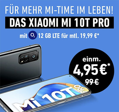 o2 Blue All-in M (bis zu 18GB LTE) ab 19,99€ / Monat mit Apple iPhone SE, Xiaomi Mi 10T Pro, Galaxy S20 FE ab 4,95€
