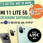 o2 Blue All-in M (bis zu 18GB LTE) ab 19,99€ / Monat mit Xiaomi Mi 11 Lite für 4,95€