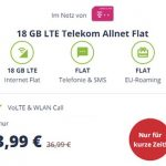 18 GB Mobilcom Debitel Telekom LTE Allnet Flat für 13,99€