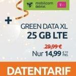 25 GB LTE Telekom Green Data XL Datentarif für 14,99€ pro Monat