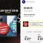 o2 Free M (20 GB LTE) ab 23,99€ mit Xiaomi Mi 10T Pro ab 4,95€ | Galaxy S20 FE für 21€