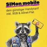 8 GB SIMon Allnet Flat ab 8,99€ / Monat im Vodafone Netz | ohne Laufzeit