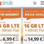 5 GB Allnet Flat für 6,99€ | 16 GB Allnet Flat für 14,99€