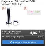 Sony Playstation 5 für 4,95€ mit 40 GB Telekom Vertrag für 46,99€ / Monat