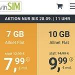 winSIM 10 GB Allnet Flat für 9,99€ | 7 GB Flat für 7,99€