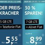 5 GB Flat für 5,55€ | 16 GB Flat für 14,99€ | ohne Laufzeit